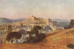 Artista: Camille Corot Fecha de finalización: 1836 Estilo: Realismo Genero: paisaje Técnica: óleo Material: canvas Dimensiones: 38,3 x 56 cm Etiquetas: castles-and-fortresses