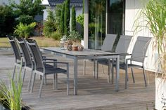 PORTO zestaw mebli DINING grafit Willow House, Outdoor Furniture Sets, Outdoor Decor, Furnitures, Objects, Home Decor, Porto, Interior Design, Home Interior Design