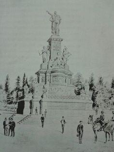 Proyecto de monumento no realizado a Benito Juárez para el Paseo a la Reforma. El Mundo, 28 de Julio de 1895.