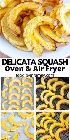 Find out how easy it is to make roasted delicata squash in the oven and in the air fryer. Roasted delicata squash is an easy side dish that can be seasoned in different ways. Video included.