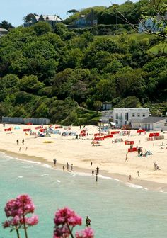 Porthminster Beach in St. Ives Cornwall - White sands lapped by azure seas – St Ives' Porthminster Beach is among Britain's best Cornwall England, St Ives Cornwall, Devon And Cornwall, West Cornwall, British Beaches, British Seaside, Uk Beaches, British Isles, Great Places