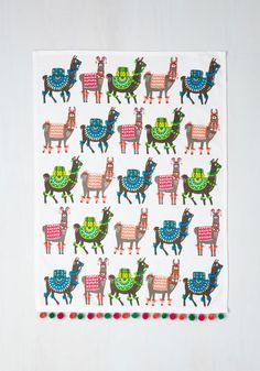 Como se Llama? Tea Towel Set. Every new guest you host could inspire material for your next novel. #multi #modcloth