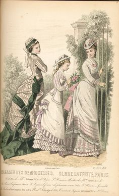 1870s fashion plate Scrapbook