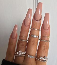 Elegant Nude Coffin Nails Design For Long Nails That Anyone Can Pull Off gel Coffin nails design, Coffin nails long, Acrylic coffin nails design, Neutral coffin nails ide Best Picture For holiday nail ideas F Acrylic Nails Nude, Simple Acrylic Nails, Nude Nails, Matte Nails, Stiletto Nails, Classy Nail Designs, Long Nail Designs, Coffin Nails Long, Long Nails