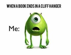 If anyone actually ever reads my first book and likes it...they will kill me because of the cliff hanger lol