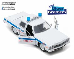 Greenlight 1/24 Scale 1975 Dodge Monaco Chicago Police Blues Brothers Diecast Car Model 84012