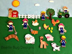 Farm Days In the Hoop Machine Embroidery Story Board Pieces Instant Download Bonus Tractor