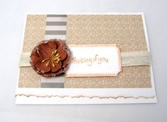 Thinking of You Card  Any Occasion Card  by PrettyByrdDesigns