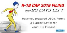20 Day H1B Cap Red Alert:  Prepare #USCIS Forms and Support Letter in sync with LCA after analyzing #H1B candidate qualifications, current status and job location. #h1bvisa #immigrationlawyer