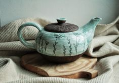 Ceramic Tea Pot | Чайник «Дикие травы» – купить в интернет-магазине на Ярмарке Мастеров с доставкой