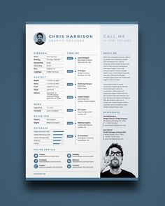 Resume / Curriculum Vitae / Design / Ideas / Inspiration / Clean /  Minimalist / No Photo / Template / Free / Freebie / Single Page / Graphic  Designer  Unique Resume Templates Free