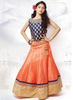Widest Range of Ethnic Wear Kids Clothing Online. Shipping Worldwide from India. Indian Dresses, Indian Outfits, Kids Lehenga Choli, Blue Lehenga, Saree, Desi Wear, Blouse Models, Indian Designer Wear, Indian Fashion