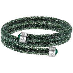 Swarovski Ladies Crystaldust Green Crystal Bangle