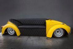 vw beetle sofa: