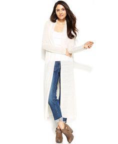 Eileen Fisher Solid Floor Length Cardigan - Sweaters -