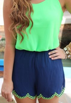 Cute and colorful romper perfect for summer