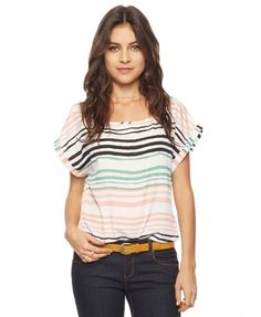 Forever 21 Static Stripes top
