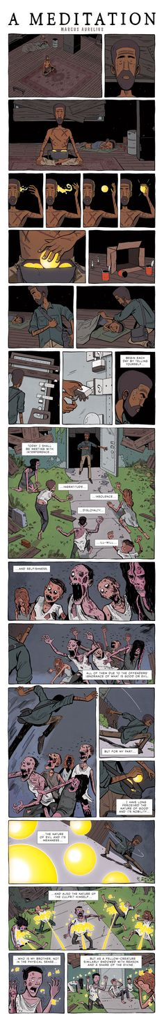 Marcus Aurelius was a Roman Emperor who ruled from to By all accounts, Aurelius was a fair and benevolent ruler, unlike say, the real 'mad king' Caligula or Aurelius' son a… Comics Story, Bd Comics, 4 Panel Life, Cartoon Quotes, Short Comics, Faith In Humanity, Self Development, Thought Provoking, Short Stories