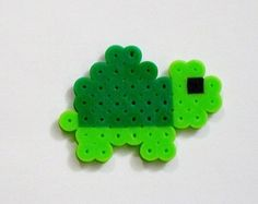 This item is unavailable - Andrea Kress - This item is unavailable Baby TURTLE // Green Cute Kawaii Perler Beads Zoo Animals // Magnet Keychain Pin (pick your finish) - Perler Bead Designs, Easy Perler Bead Patterns, Melty Bead Patterns, Hama Beads Design, Diy Perler Beads, Perler Bead Art, Pearler Beads, Beading Patterns, Loom Patterns