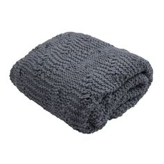 Ira Cable Knit Throw, Robin Blue