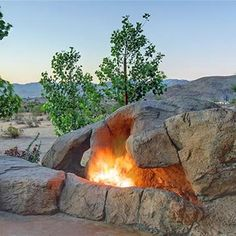 I love the natural formation look of this fire pit... really well done.