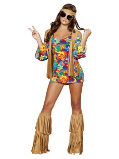 Sexy Hippie Hottie Costume - 60's & other Sexy from Birthday in a Box