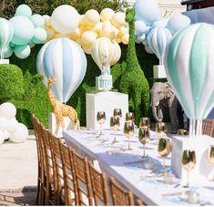 Baby Boy Shower Decorations Blue Air Balloon 65 Ideas For 2019 Cadeau Baby Shower, Deco Baby Shower, Baby Shower Balloons, Birthday Balloons, Shower Party, Baby Shower Parties, Baby Shower Themes, Baby Boy Shower, Baby Shower Decorations