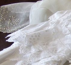Posts about antique French fabric written by Trish Vintage Embroidery, Vintage Lace, French Vintage, Lace Embroidery, Embroidery Transfers, Embroidery Designs, Linens And Lace, White Linens, French Fabric