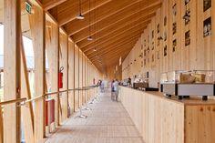 Wood Clad Bar  Slow Food Pavilion – Milan Expo 2015 / Herzog & de Meuron