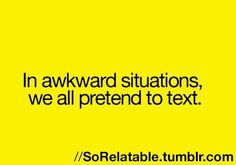 I've had so many of those....especially in school when you try not to make eye contact with somebody