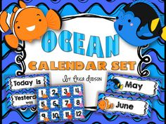 Great new set for all of you with an ocean, beach, or luau theme!  Your students are going to love this Finding Nemo