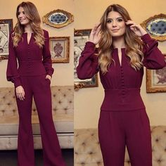 Lindos Outfits con Jumpsuite Jumpsuit Prom Dress, Custom Made Prom Dress, Prom Dresses Long With Sleeves, Evening Dresses, Fashion Dresses, Costume, Lady, Jumpsuits, Party Dresses