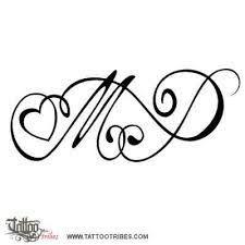Risultati immagini per tatuaje letras cursiva m