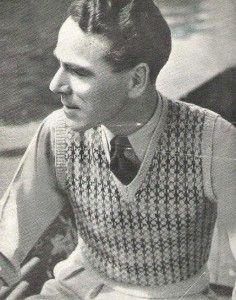 Knit pattern1940s vest