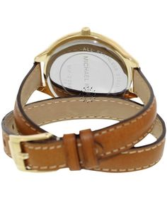 OROLOI.gr - ΡΟΛΟΓΙΑ MICHAEL KORS - Michael Kors Brown Leather Strap