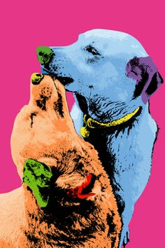 Andy Warhol dogs make the perfect couple.
