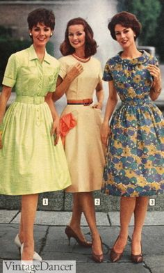 Vintage Outfits, 1960s Outfits, Vintage Inspired Dresses, Vintage Dresses, 1960s Fashion Women, Retro Fashion, Vintage Fashion, Womens Fashion, 1950s Style