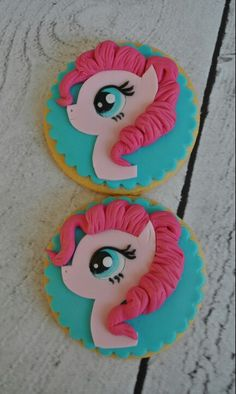 My little pony Pinkie Pie cookies