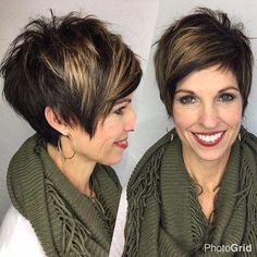 Every day with these attractive and well-groomed hairstyles look TOP! – Ladies F … - Best New Hair Styles Short Sassy Hair, Short Hair With Layers, Short Hair Cuts For Women, Layered Hair, Mom Hairstyles, Cute Hairstyles For Short Hair, Short Hair Styles, Great Hair, Hair Today