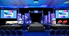 Corporate event stage design. Inspiration for meetingprofs and eventprofs at #eventinterface