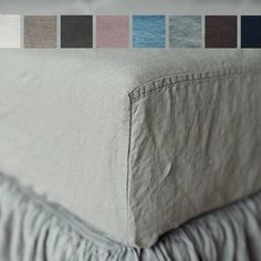 Linen bedding linen FITTED SHEET in Twin Full Double Queen