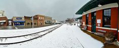 Snow day at the Depot - #Cookeville #TN #train #WestSide