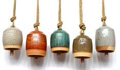 clay bells by Michele Quan -- try to make something like this next time i take a pottery class!