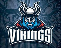 Viking Mascot Branding on Behance - American Logo Sport Theme