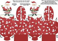 Xmas Santa Treats Box on Craftsuprint designed by Karen Wyeth - A marvelous box topper template which folds together to form two sitting Santa toppers. Easy to follow instructions are also provided on the sheet. Perfect for adding Christmas treats, coins, gifts, chocolates, cup cakes and more! Easy for children to also create for craft projects. Enjoy! xk - Now available for download!