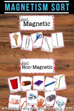 Magnetism Sort for Third Grade Science Stations Sorting Activities, Science Activities, Science Projects, Leadership Activities, Science Ideas, Group Activities, Teacher Resources, Third Grade Writing, Third Grade Science