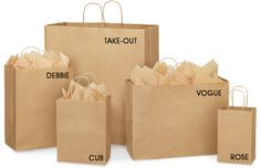 Brown Paper Gift Bags, Kraft Shopping Bags in Stock - ULINE