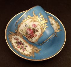 Antique Paris Porcelain Sevres Style Tea Cup & Saucer #SevresStyle #RihouetParis