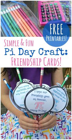 Download a set of free printable Pi Day Crafts for Kids.