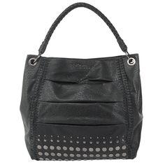 e625c2c59ca7 Christian Audigier Francesca Hobo Bag-Black The Christian Audigier  Francesca Hobo features faux leather exterior